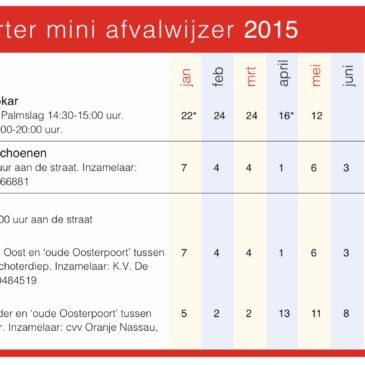 Oosterpoorter Mini Afvalwijzer 2015