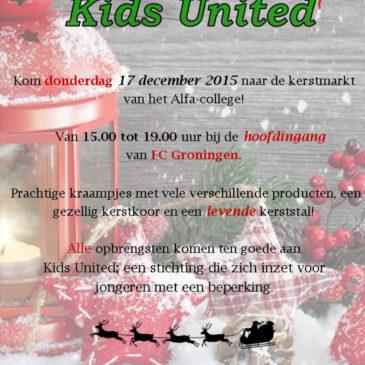 Alfa-college organiseert kerstmarkt voor Kids United
