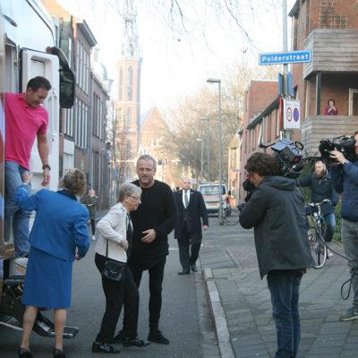 Beroemdheden in de straat...