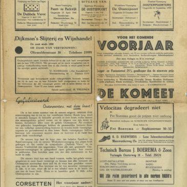 Oosterpoorter, jaargang 1, nummer 1, februari 1951!