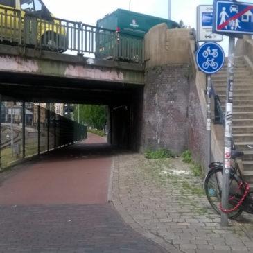 Fietspad onder Herewegviaduct gestremd