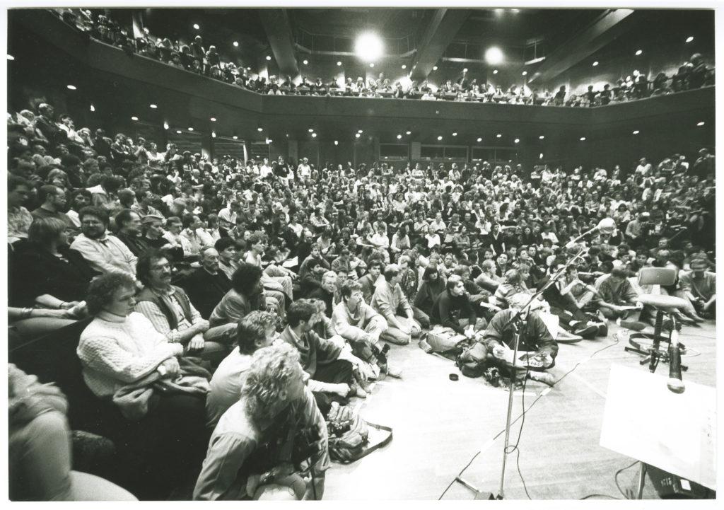 De Oosterpoort, kleine zaal, Jazzmarathon (David Murray) 1986. Fotograaf Frank Straatemeier. Groninger Archieven, 2290_6508